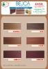 Aksil - karta kolorów bejcy akrylowych koloryzujące (na drewnie bukowym)