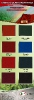 Aksil - karta kolorów farb do blach dachowych AKSIKOR